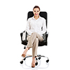 image of a person sitting in a desk chair.