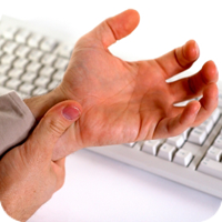 image of one hand rubbing the opposite hand's wrist