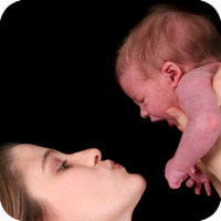 image of mother trying to soothe her baby