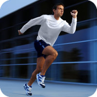 image of a man running