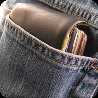 image of wallet in a back pocket.