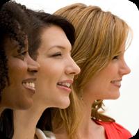 image of three women smiling