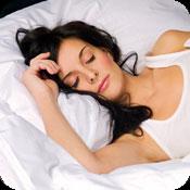 image of woman sleeping.