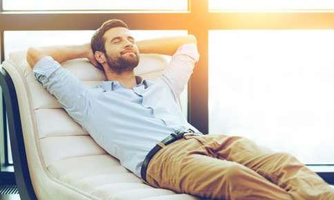 image of man relaxing.