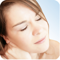 image of woman in pain holding her neck